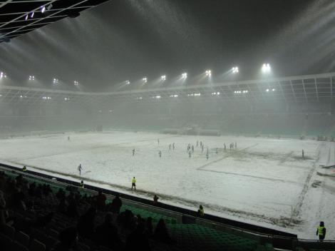 Jogo de futebol na Eslovenia