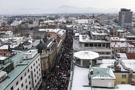08/02 - Protesto em Liubliana!