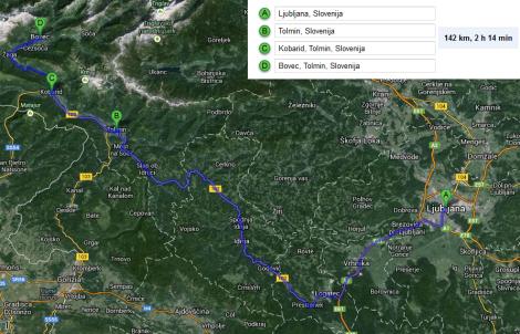 De Liubliana para Bovec