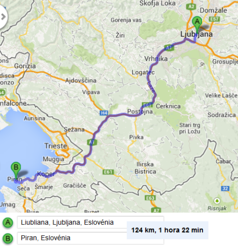 De Liubliana para Piran
