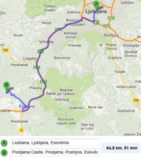 De Liubliana para Predjama Castle