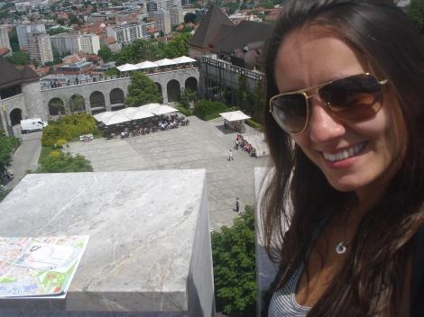 Raquel no Castelo de Liubliana