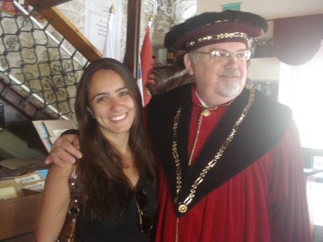Raquel no Castelo de Bled