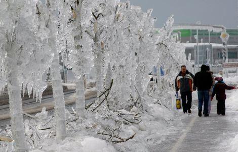 Eslovênia, inverno em Postojna