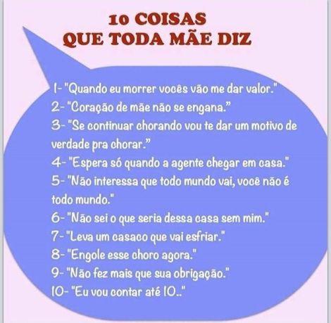 Frases das mães brasileiras